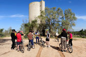 Cycling in the Negev Desert Israel — Stock Photo