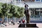 Auckland cityscape - Aotea Square — Stock Photo