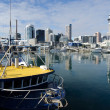 Auckland Viaduct Harbor Basin - Stock Photo