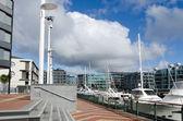 Auckland Viaduct Harbor Basin — Stock Photo