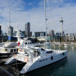 Auckland Viaduct Harbor Basin - Foto de Stock