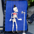 Skeleton puppeteer — Stock Photo