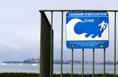 Tsunami evacuation route sign — Stock Photo