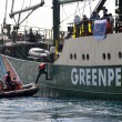 Greenpeace activists — Stock Photo