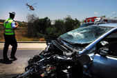 Traffic collision in Israel — Stock Photo