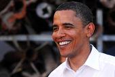 Barack Obama Visit to Israel — Stock Photo