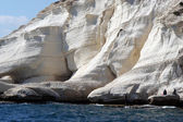 Rosh hanikra clifs in north israel near lebanon boarder — Stock Photo