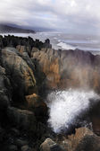 Pancake rocks - New Zealand — Stock Photo