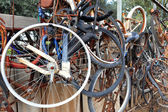 Old bicycles — Stock Photo