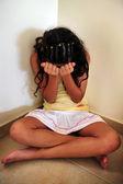 Traumatized young woman — Stock Photo