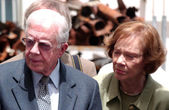 Jimmy Carter and his Wife Eleanor Rosalynn Smith — Stock Photo