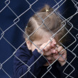 Human Trafficking of Children - Concept Photo — Stock Photo