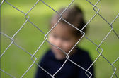 Human Trafficking of Children - Concept Photo — Stockfoto