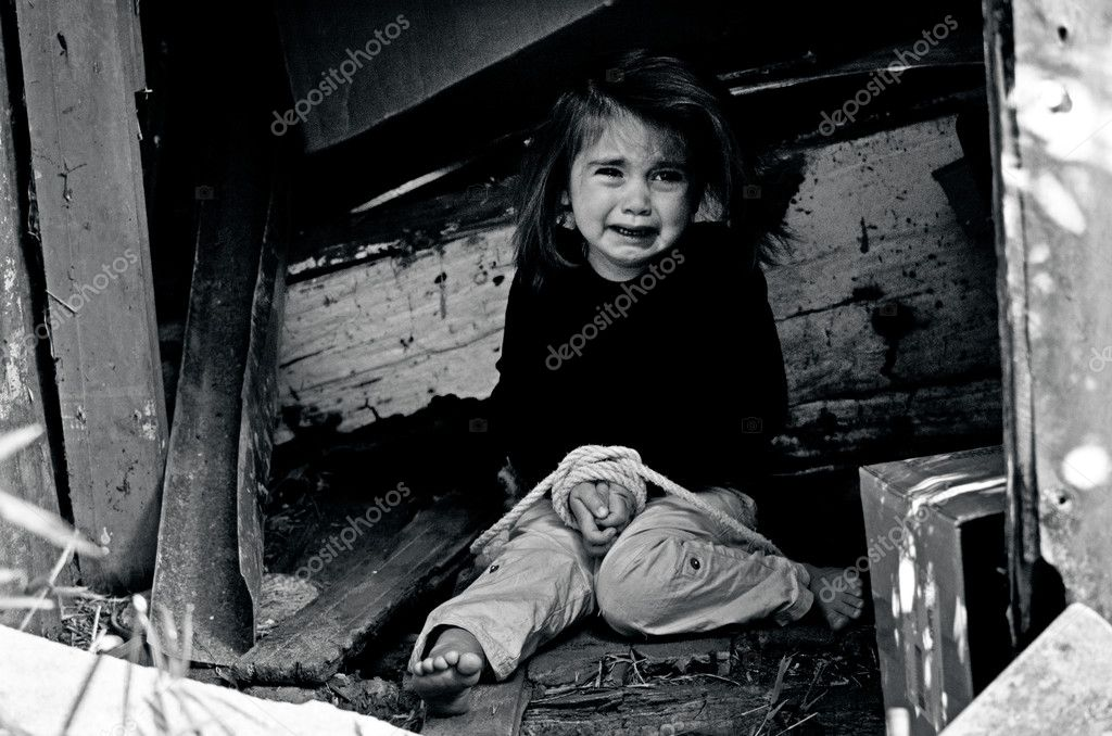 human trafficking of children concept photo � stock