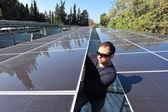 Solar Energy - Green Electricity — Stock Photo