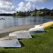 Stock Photo: Dinghy boats