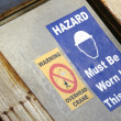 Hard Hat Signs — Stock Photo