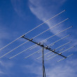 Stock Photo: Outdated analogue tv antenna