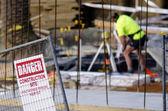 безопасность стройплощадки — Стоковое фото