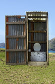 Outdoors toilet — Stockfoto
