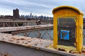 Emergency phone in Manhattan New York — Stock Photo