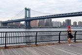 Puente de manhattan en manhattan nueva york — Foto de Stock