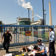 Greenpeace Blocks entry to Power Station in South Israel — Stock Photo #29970491