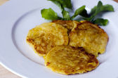 NZ sweet corn fritters — Stock Photo
