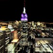 Empire State Building at night in Manhattan New York — Stock Photo #30018583