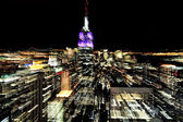 Empire State Building at night in Manhattan New York — Stock Photo