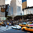manhattan new york City plaza — Stok fotoğraf