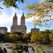 Central park lake in Manhattan New York — Stockfoto