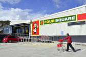 Four Square supermarkets — Stock Photo
