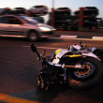 motorfiets ongeval — Stockfoto