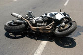 Accidente de moto — Foto de Stock