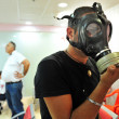 Gas mask distribution in Israel — Stock Photo