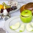 Stock Photo: Rosh Hashanah Jewish Holiday Seder Table