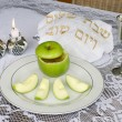 Rosh Hashanah Jewish Holiday Seder Table — Stock Photo