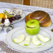 Rosh Hashanah Jewish Holiday Seder Table — Stock Photo #30933137
