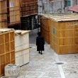 Stock Photo: Sukkot Jewish Holiday in MeShearim Jerusalem Israel