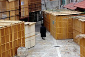 Sukkot Jewish Holiday in Mea Shearim Jerusalem Israel — Stock Photo