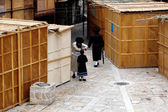 Sukkot Jewish Holiday in Mea Shearim Jerusalem Israel — Stock Photo
