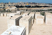 Mount of Olives Jewish Cemetery in Jerusalem Israel — Stock Photo