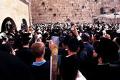 The Western Wall during the Jewish holiday of Passover — Stock Photo