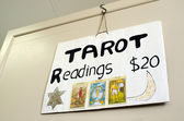 Tarot card reader — Stock Photo