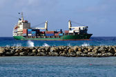 Porto di avatiu - isola di rarotonga, isole cook — Foto Stock