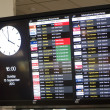 Stock Photo: Auckland international airport departures board