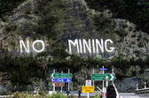 No Mining protest in New Zealand — Stock Photo