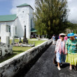 Постер, плакат: Cook Islands people pray at CICC church