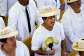 Cook Islands people pray at CICC church — Stock Photo